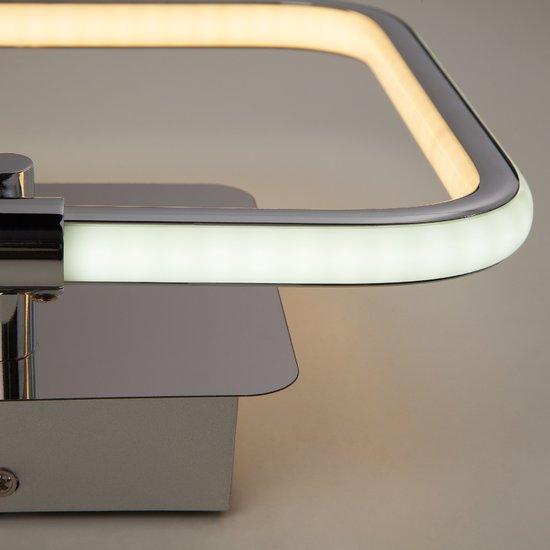 Фото №4 Светодиодный настенный светильник 90067/1 хром