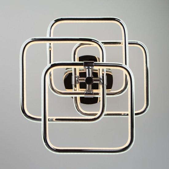 Фото №4 Светодиодный потолочный светильник 90067/4 хром