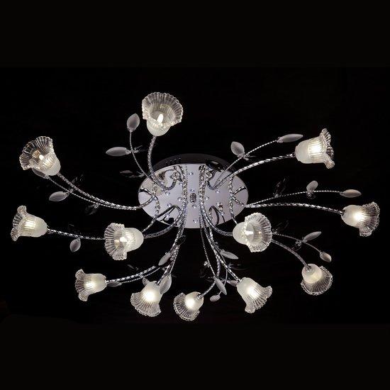 Фото №5 Люстра потолочная со светодиодной подсветкой 80114/12 хром/белый