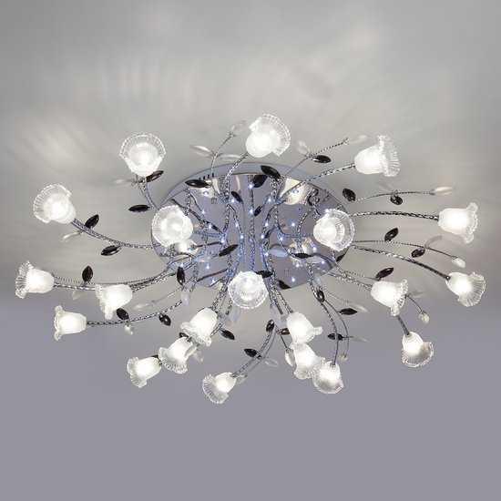Люстра потолочная со светодиодной подсветкой 80114/21 хром/белый фото