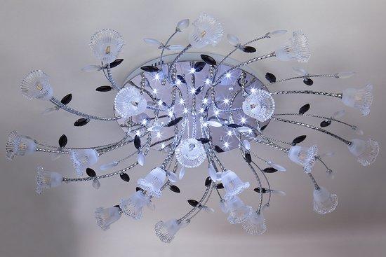 Фото №4 Люстра потолочная со светодиодной подсветкой 80114/21 хром/белый