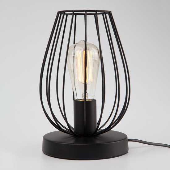 Фото №2 Настольная лампа в стиле лофт 01013/1 черный