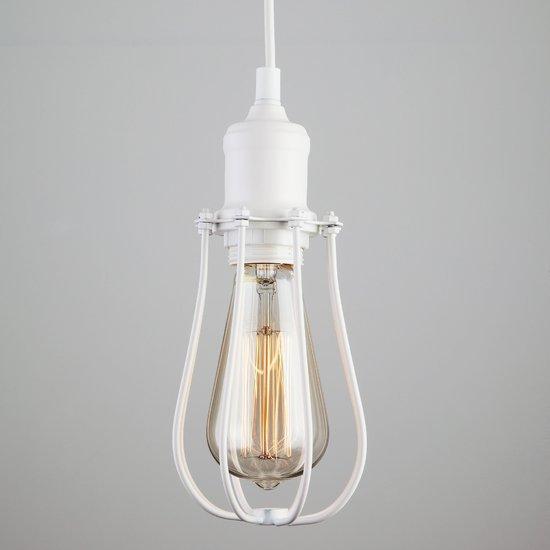 Фото №3 Подвесной светильник в стиле лофт 50065/1 белый