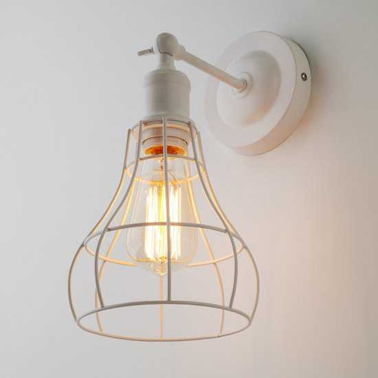 Фото №2 Настенный светильник в стиле лофт 50063/1 белый