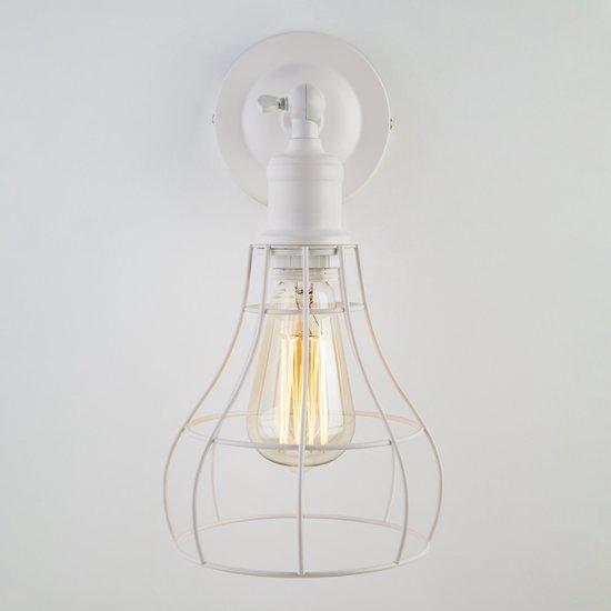 Фото №3 Настенный светильник в стиле лофт 50063/1 белый