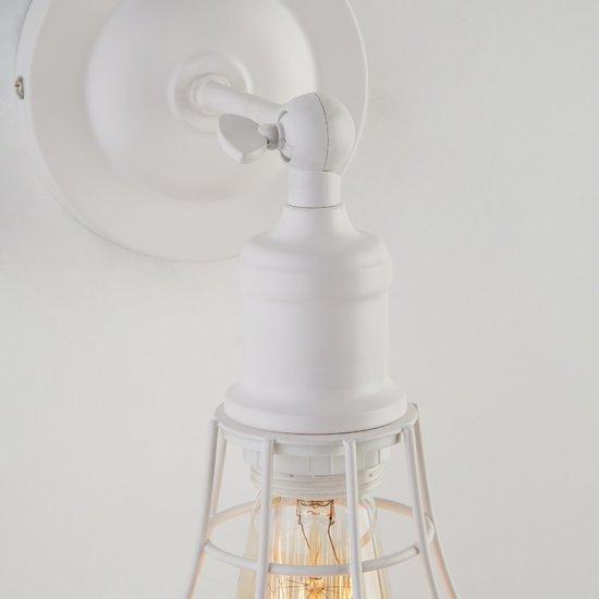 Фото №4 Настенный светильник в стиле лофт 50063/1 белый
