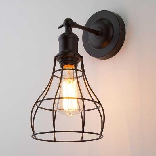 Фото №2 Настенный светильник в стиле лофт 50062/1 черный
