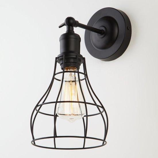 Фото №3 Настенный светильник в стиле лофт 50062/1 черный