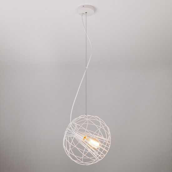 Фото №2 Подвесной светильник в стиле лофт 50061/1 белый