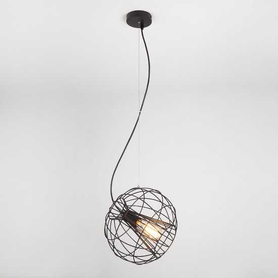 Фото №2 Подвесной светильник в стиле лофт 50060/1 черный