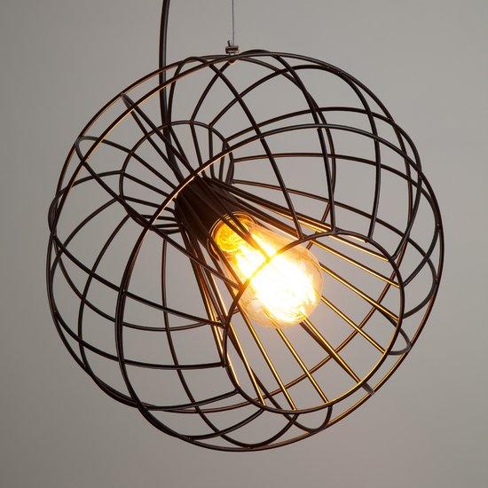 Фото №4 Подвесной светильник в стиле лофт 50060/1 черный