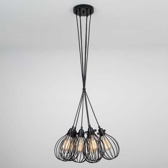 Фото №2 Подвесной светильник в стиле лофт 50059/6 черный