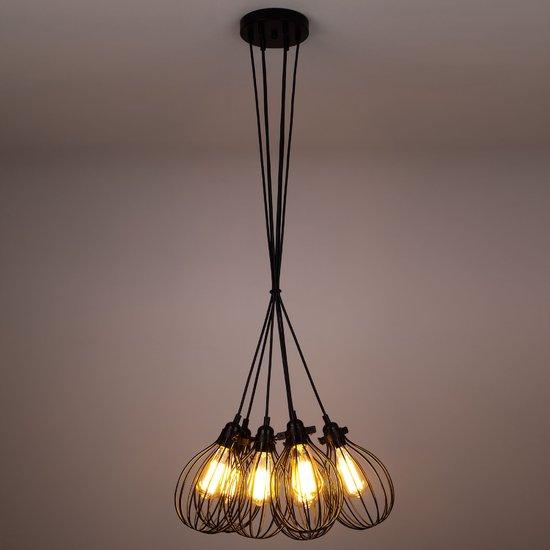Фото №3 Подвесной светильник в стиле лофт 50059/6 черный