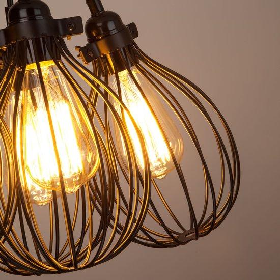 Фото №4 Подвесной светильник в стиле лофт 50059/6 черный