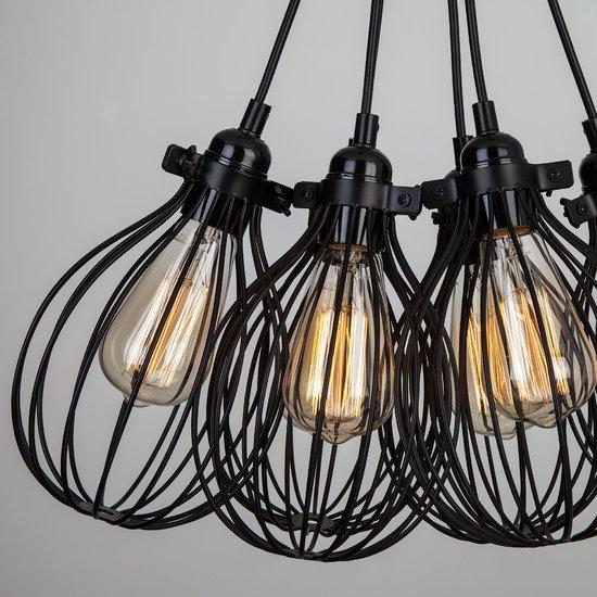Фото №5 Подвесной светильник в стиле лофт 50059/6 черный