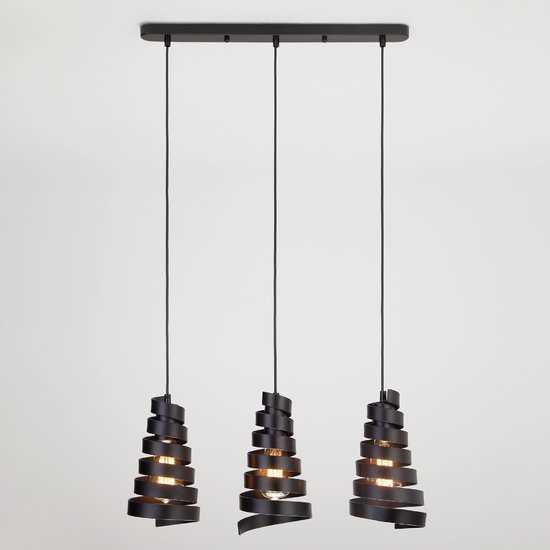 Фото №2 Подвесной светильник в стиле лофт 50058/3 черный