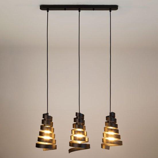 Фото №4 Подвесной светильник в стиле лофт 50058/3 черный