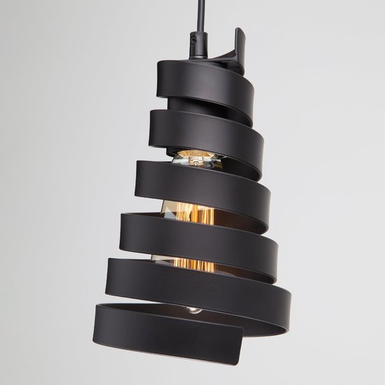 Фото №5 Подвесной светильник в стиле лофт 50058/1 черный