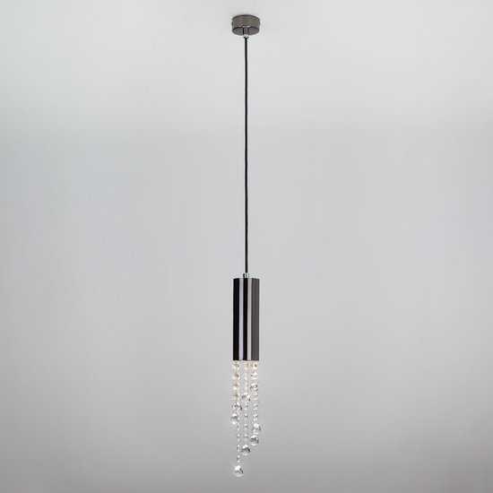 Подвесной светильник с хрусталем 50067/1 черный фото