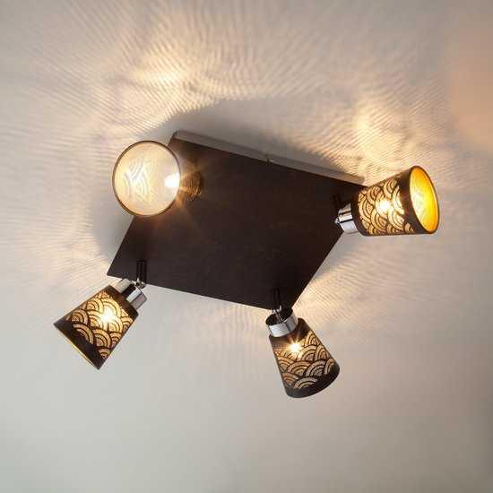Потолочный светильник с поворотными плафонами 20061/4 черный фото