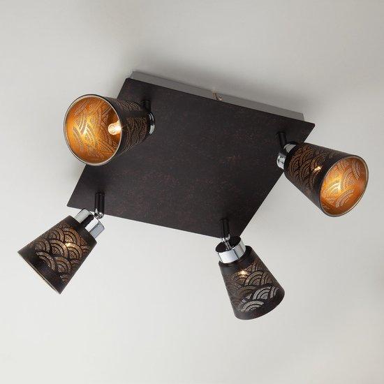 Фото №3 Потолочный светильник с поворотными плафонами 20061/4 черный