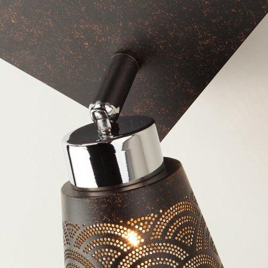 Фото №6 Потолочный светильник с поворотными плафонами 20061/4 черный