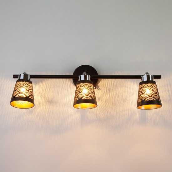 Фото №2 Настенный светильник с поворотными плафонами 20061/3 черный