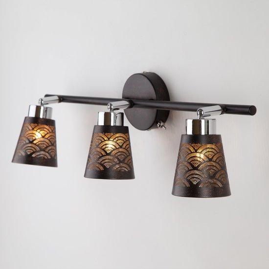 Фото №3 Настенный светильник с поворотными плафонами 20061/3 черный