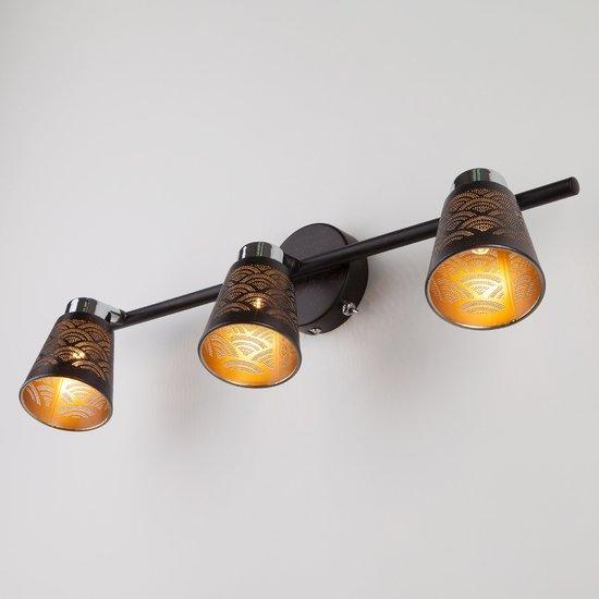 Фото №4 Настенный светильник с поворотными плафонами 20061/3 черный