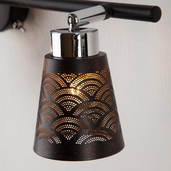 Фото №5 Настенный светильник с поворотными плафонами 20061/3 черный