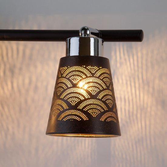 Фото №6 Настенный светильник с поворотными плафонами 20061/3 черный