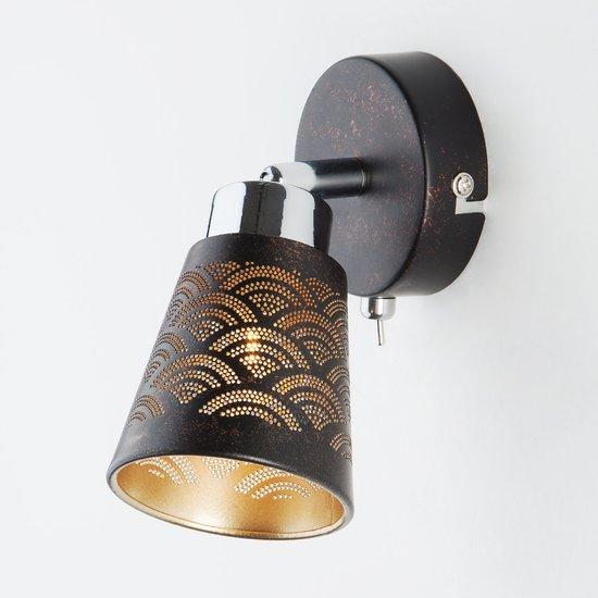Фото №4 Настенный светильник с поворотным плафоном 20061/1 черный