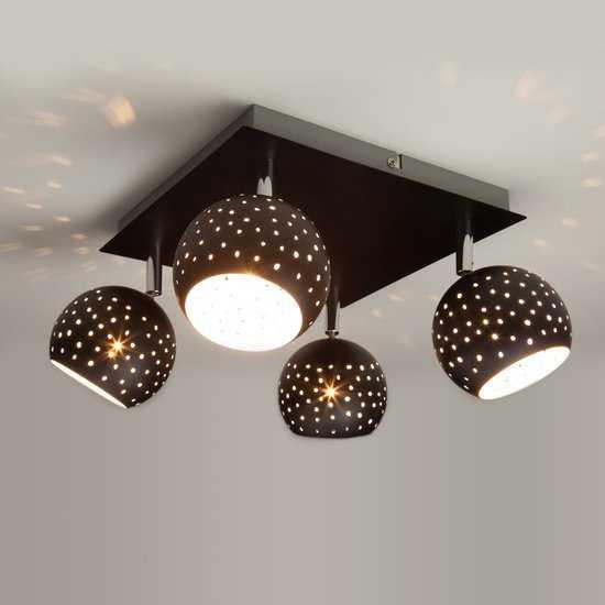 Фото №2 Потолочный светильник с поворотными плафонами 20059/4 черный