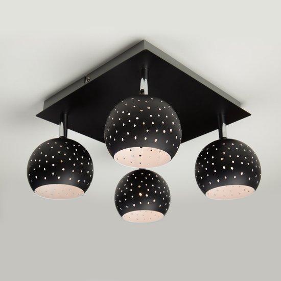 Фото №3 Потолочный светильник с поворотными плафонами 20059/4 черный