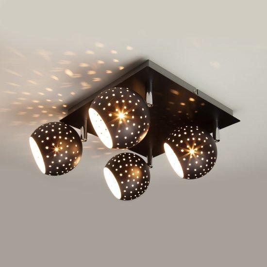 Фото №4 Потолочный светильник с поворотными плафонами 20059/4 черный