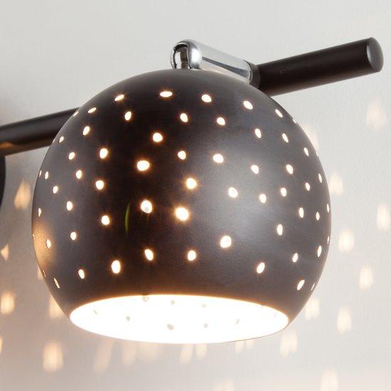 Фото №4 Настенный светильник с поворотными плафонами 20059/3 черный