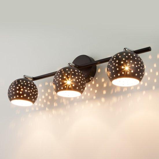 Фото №5 Настенный светильник с поворотными плафонами 20059/3 черный