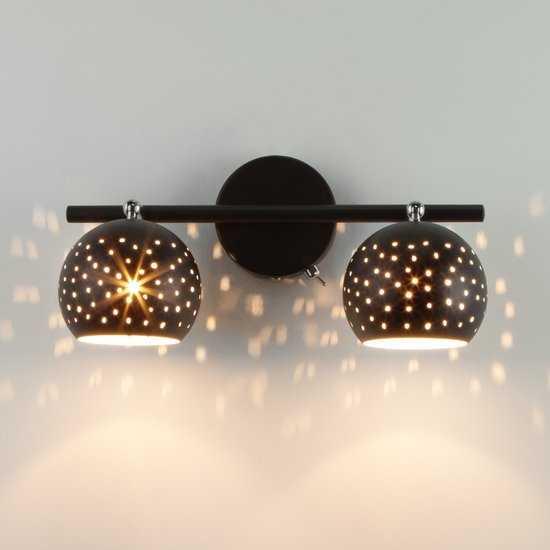 Фото №2 Настенный светильник с поворотными плафонами 20059/2 черный