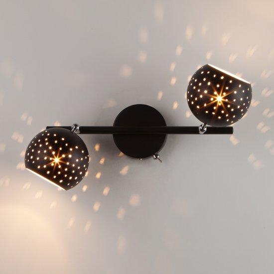 Фото №3 Настенный светильник с поворотными плафонами 20059/2 черный