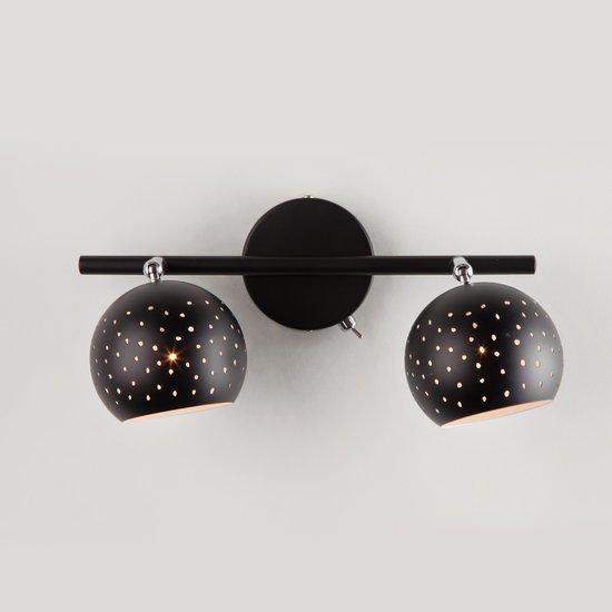Фото №4 Настенный светильник с поворотными плафонами 20059/2 черный