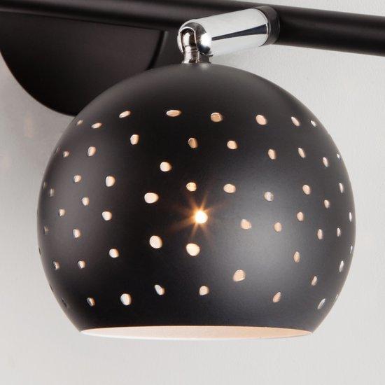 Фото №5 Настенный светильник с поворотными плафонами 20059/2 черный