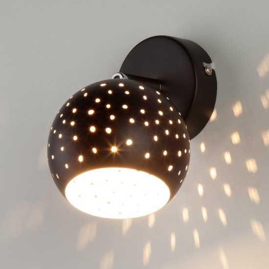 Фото №2 Настенный светильник с поворотными плафонами 20059/1 черный