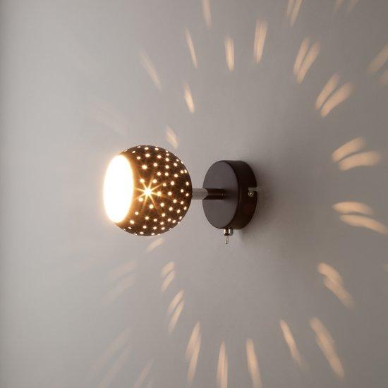 Фото №4 Настенный светильник с поворотными плафонами 20059/1 черный