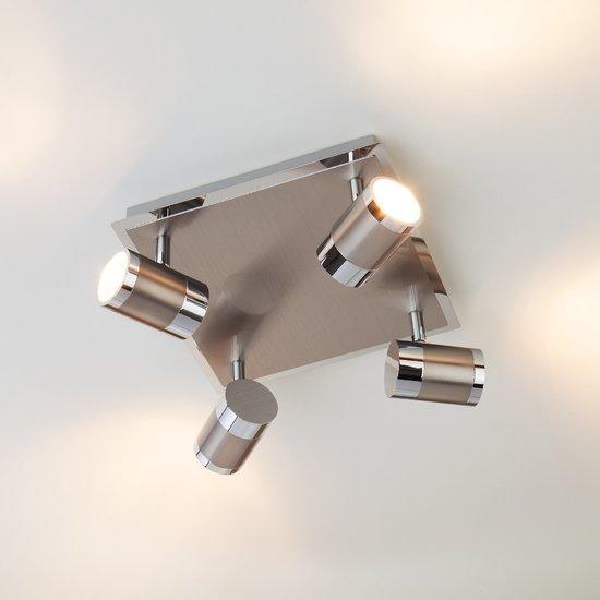 Фото №3 Потолочный светильник с поворотными плафонами 20058/4 перламутровый сатин