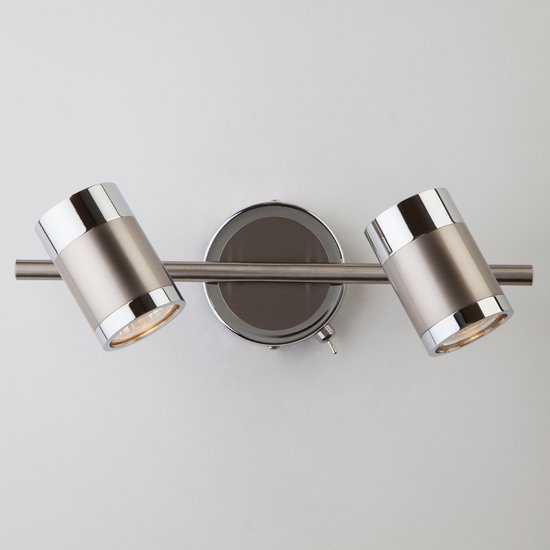 Фото №2 Настенный светильник с поворотными плафонами 20058/2 перламутровый сатин