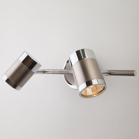 Фото №4 Настенный светильник с поворотными плафонами 20058/2 перламутровый сатин