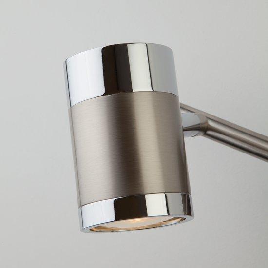 Фото №6 Настенный светильник с поворотными плафонами 20058/2 перламутровый сатин