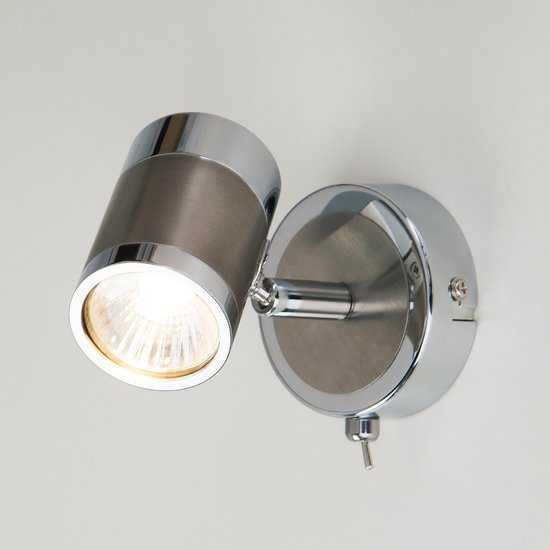 Фото №2 Настенный светильник с поворотными плафонами 20058/1 перламутровый сатин