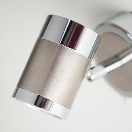 Фото №4 Настенный светильник с поворотными плафонами 20058/1 перламутровый сатин