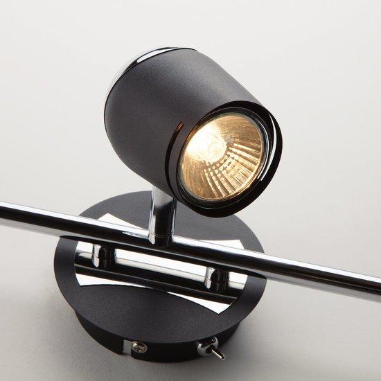 Фото №5 Настенный светильник с поворотными плафонами 20057/3 хром/черный